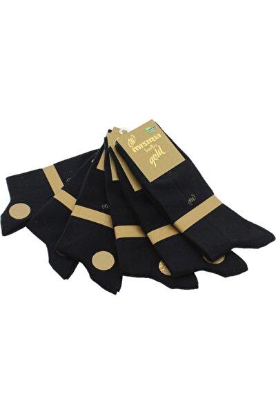 Erkek 6'lı Siyah Renk Bambu Dikişsiz Burun Çorap