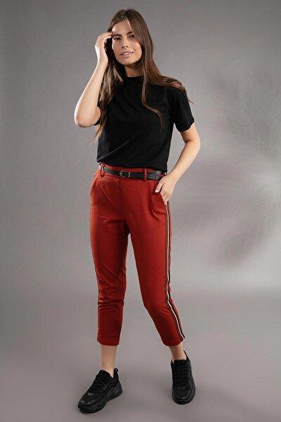 Kadın Şerit Detaylı Havuç Kesim Pantolon 39529