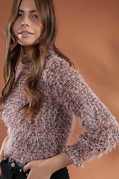Kadın Uzun Kol Sakallı Sweatshirt F419
