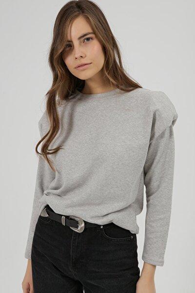 Kadın Vatkalı Uzun Kollu Sweatshirt Y20w185-1330