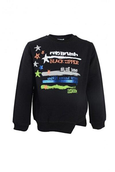 Erkek Çocuk Siyah Neon Detaylı Sweatshirt