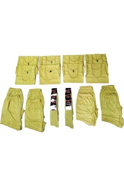 Erkek Haki Yeşil Asker Yazlık Set 8 Li Boxer