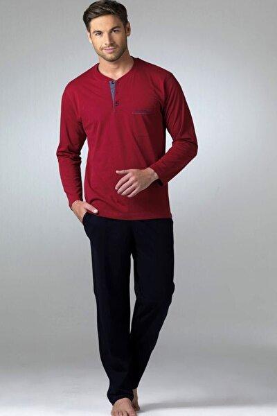 Erkek Bordo Penye Pijama Takımı 2'li