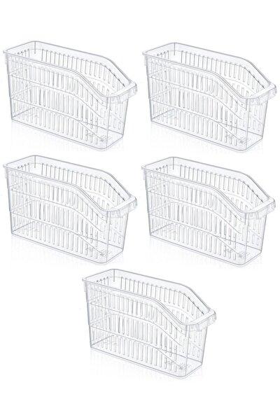 Şeffaf Buzdolabı Sepeti Dolap Içi Düzenleyici Sepet Organizer 5 Adet 30x17x16