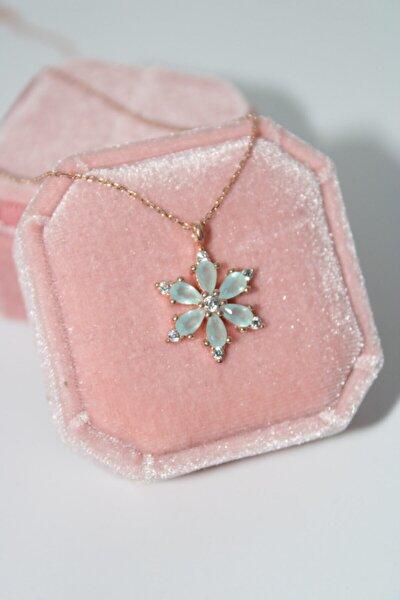 925 Ayar Gümüş Buz Yeşili Mistik Kolye