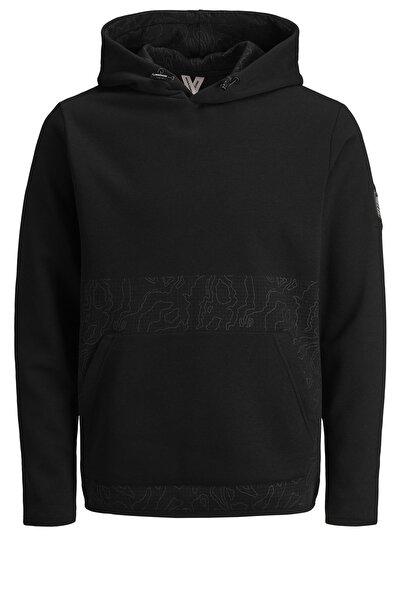 Erkek Sweatshirt Siyah Kamuflaj - 12179648