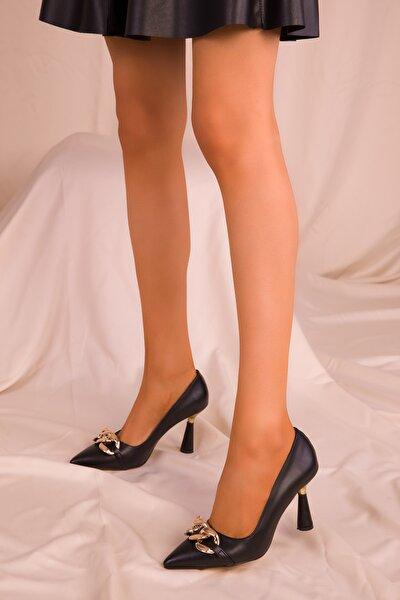 Siyah Kadın Klasik Topuklu Ayakkabı 15710