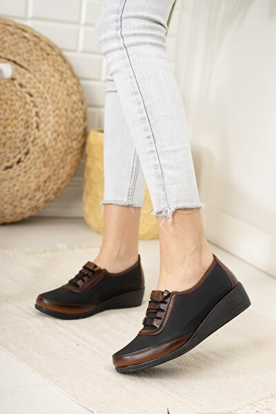 Kadın Kahverengi Ortopedik Ayakkabı