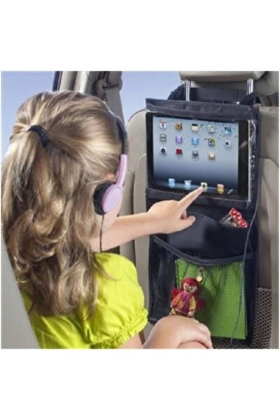 Araba Koltuk Arkası Şeffaf Koruyucu Kılıf Tablet Tutucu Stand Araç Içi Düzenleyici Organizer