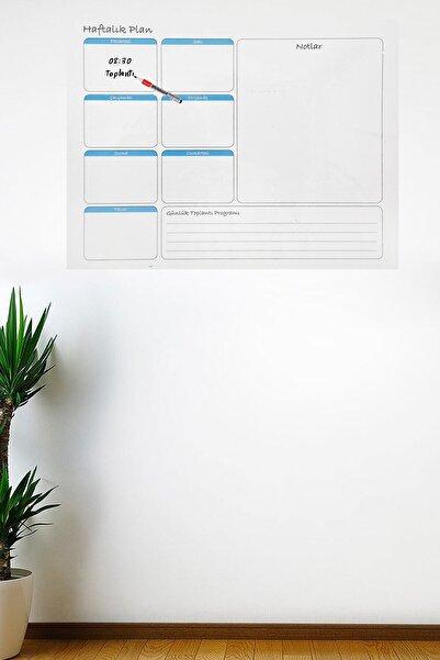 Haftalık Planlayıcı Manyetik Duvar Stickerı Takvim 100 Cm X 60 Cm