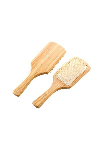 Büyük Ahşap Saç Fırçası Bambu