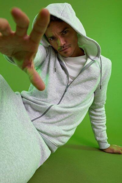 Warmtech Regular Fit Kapüşonlu Fermuarlı Basic Sweatshirt