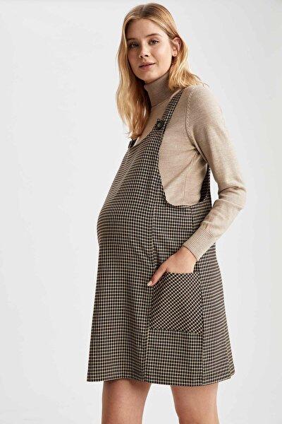 Hamile Düğme Detaylı Salopet