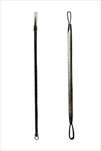 Siyah Nokta-sivilce-akne Leke Temizlemeye Yardımcı Komedon 2'li Çelik Set