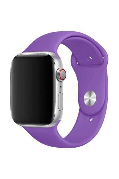 Apple Watch Serisi SLİKON MOR Kordon ( 42mm - 44mm )