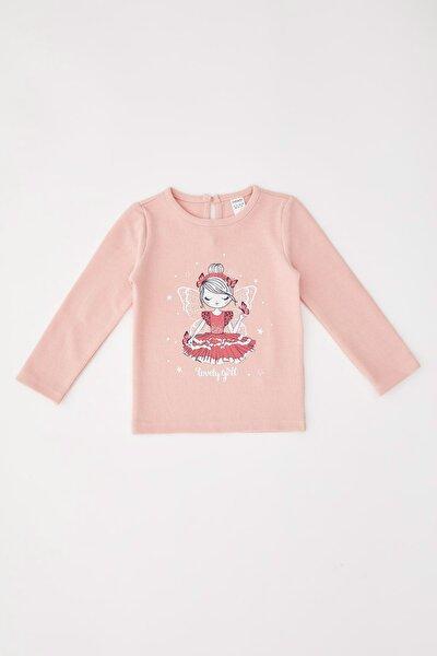 Kız Bebek Balerin Kız Baskılı Sweatshirt