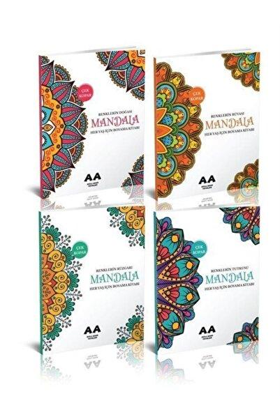 Yetişkinler Için Mandala Boyama Seti (4 Kitap)