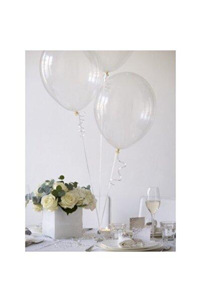 Şeffaf Sedefli Metalik Parlak Balon 50'li