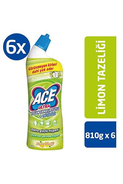 Ultra Power Jel Kıvamlı Çamaşır Suyu Limon Tazeliği 810 Gram X 6 Adet