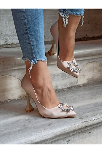 Kadın Güneş Taş 11 cm Abiye Ayakkabı