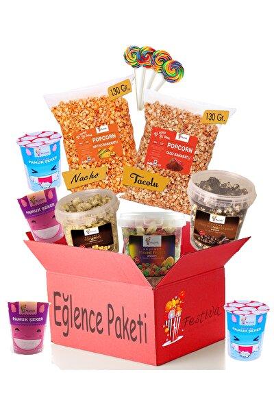 Eğlencelik Atıştırma Paketi - Popcorn, Pamuk Şeker, Sosyete Şekeri