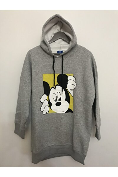 Mickey Mouse Kapşonlu Sweatshirt Tunik