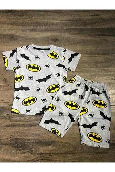 Kadın Gri Batman Modelli Pijama Takımı