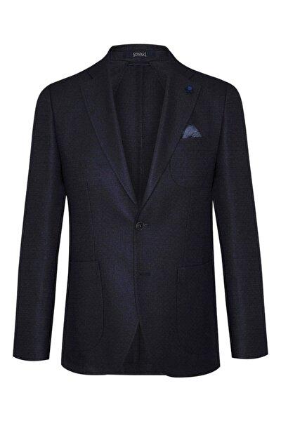Slim Fit Desenli Erkek Ceket