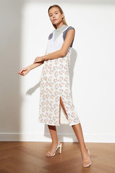Çok Renkli Bloklu Elbise TWOSS21EL1530