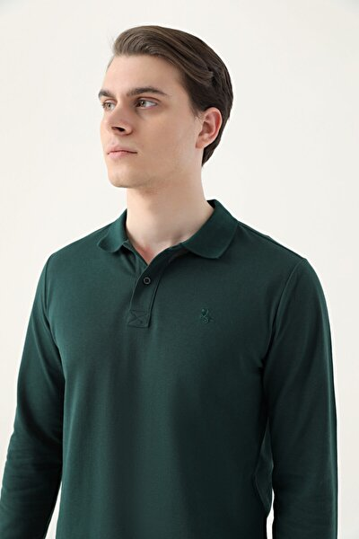 Ds Damat Regular Fit Haki Pike Dokulu T-shirt