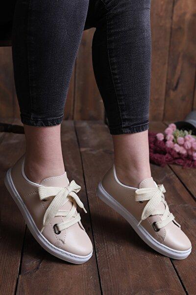 Kadın Krem Casual Ayakkabı