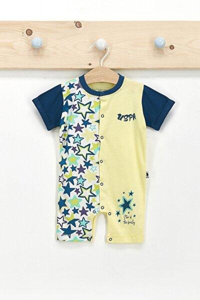 U.s. Polo Assn Lisanslı Stars Açık Sarı Erkek Bebek Tulum