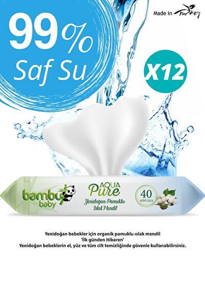 Aqua Pure Yenidoğan Islak Havlu Kapaklı 12x40 Yaprak