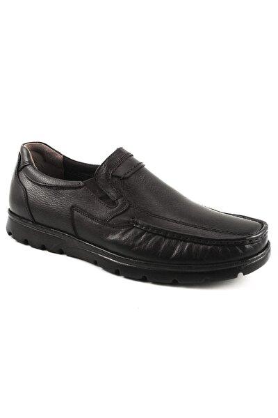 Hakiki Deri Siyah Erkek Comfort Ayakkabı 32608