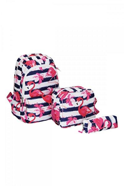 Flamingo Üçlü Okul Çanta Seti Plcan2033