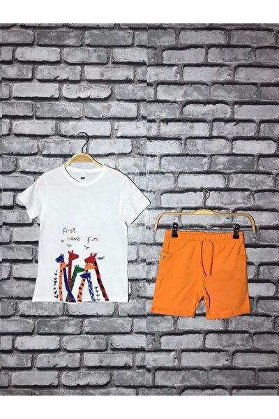 Zürafa Desenli Çocuk Takımı