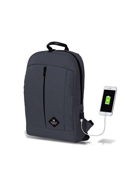 Smart Bag Galaxy Usb Şarj Girişli Sırt Çantası Füme /