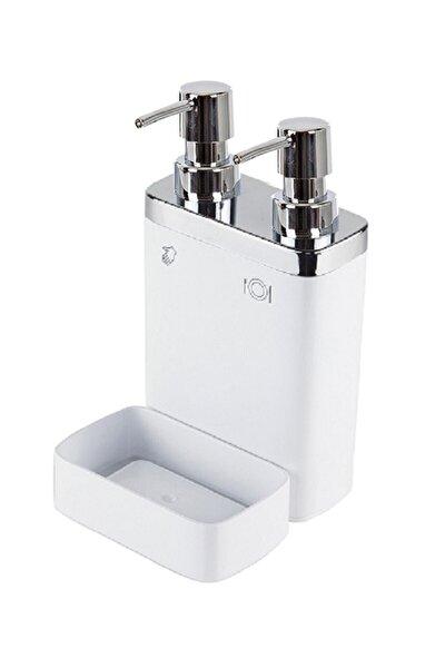 Beyaz 2'li Viva Süngerli Sıvı Sabunluk