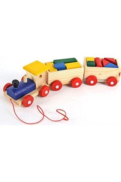 Ahşap Bul Tak Tren Çocuk Oyuncak Yap Boz Tren Montessori Etkinlik