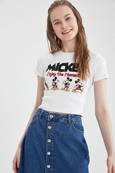 Coool Mickey Mouse Lisanslı Slim Fit Kısa Kollu Tişört