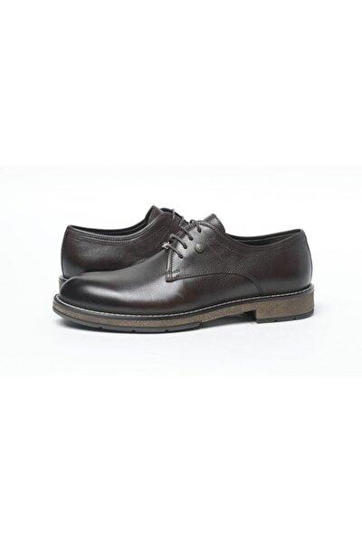 Erkek Kahverengi Hakiki Deri Günlük Ayakkabı 522031