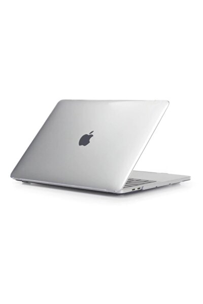 Transparan Parlak Apple Macbook Air 2020 Model A2337 M1 13 Inç Touch Id Sert Kapak Koruma Kılıf