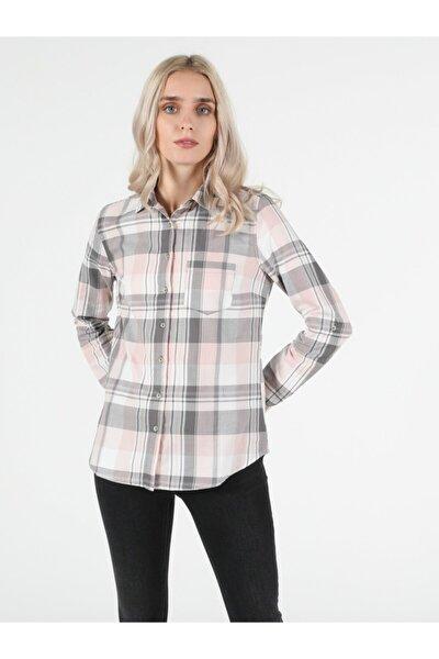 Kadın Pembe Uzun Kol Gömlek