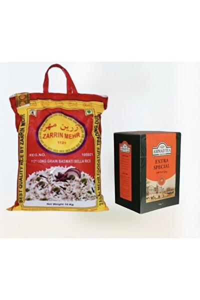1121 Basmati Hint Pirinci 5 Kg + Ahmad Tea Spesial 500 Gr Dökme Çay 'li Set