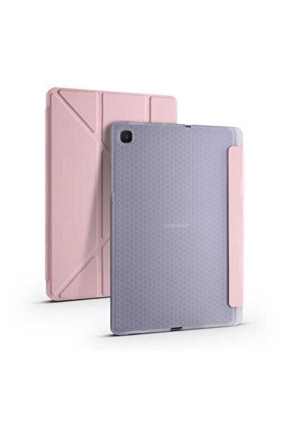 Galaxy Tab S6 Lite P610 10.4 Inç Tri Folding Rose Gold Tablet Kılıfı
