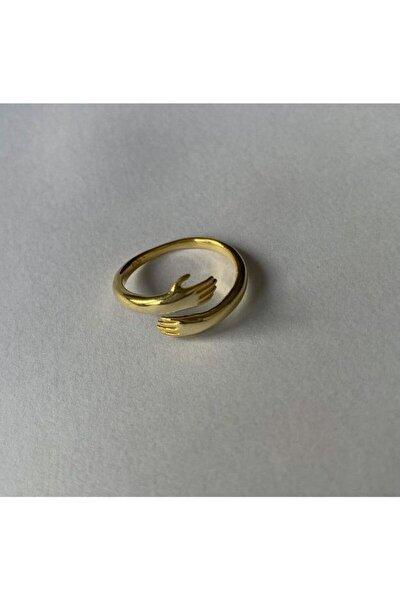 Kadın Altın 925 Ayar Gümüş Tasarım El Yüzük