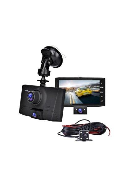 Kıngboss 4 Inç 3 Kameralı Araç Içi Kamera (ön Arka Araç Içi) 1080p Fhd