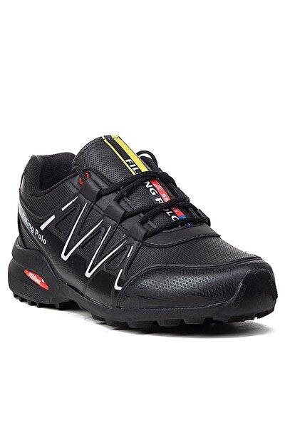 Erkek Siyah Beyaz Sneaker Fp045