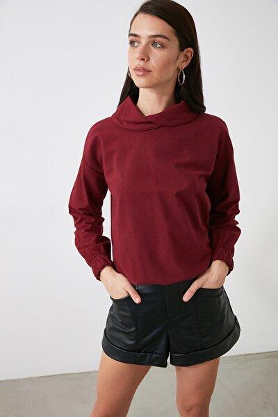 Bordo Yaka Detaylı Bluz TWOAW21BZ1509