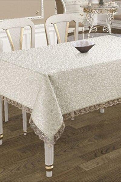 Beyaz Dantel Işlemeli Masa Örtüsü